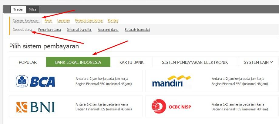 Cara deposit dan withdraw di broker forex FBS